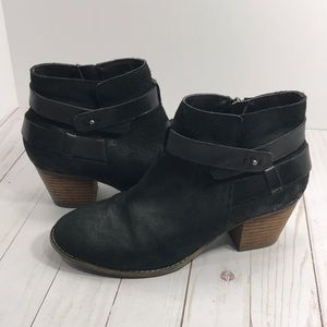 Dolce Vita heeled leather zip up booties